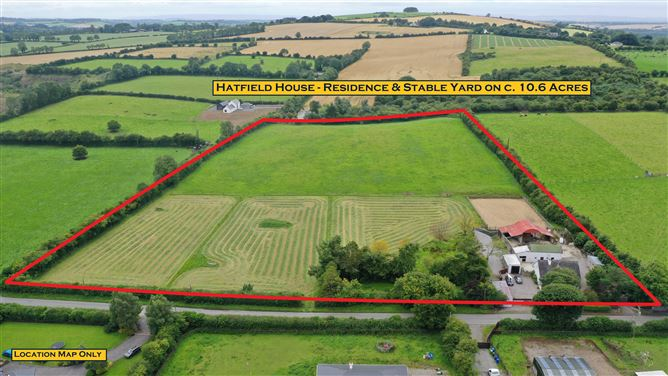 "Main image for ""Hatfield House"" Stable Yard and Land c.10.6 Acres/ 4.3 Ha., Usk, Dunlavin, Wicklow"