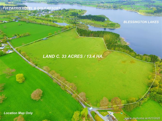 Land c. 33 Acres/ 13.4 Ha., Rathballylong, Blessington, Wicklow