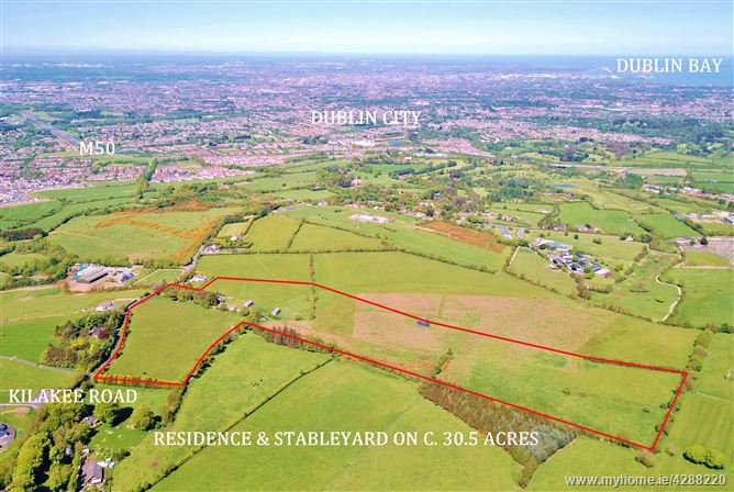 Residential Farm on c. 30.5 Acres/ 12.34 Ha., Woodtown, Rathfarnham, Dublin 16