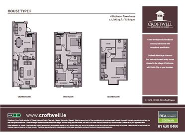 Croftwell, Rathcoole, Co. Dublin - 4 bedroom townhouse Type F - c.1,700 sq.ft.