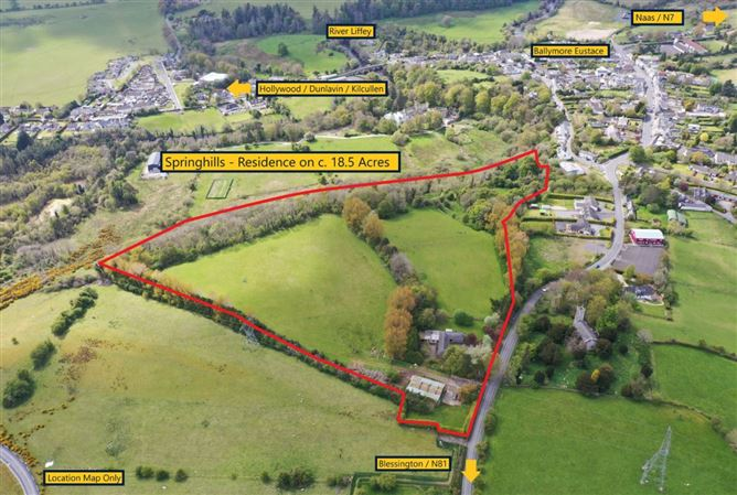 Main image for Springhills, Residence on c.18.5 Acres, Ballymore Eustace, Kildare, W91 T8K0