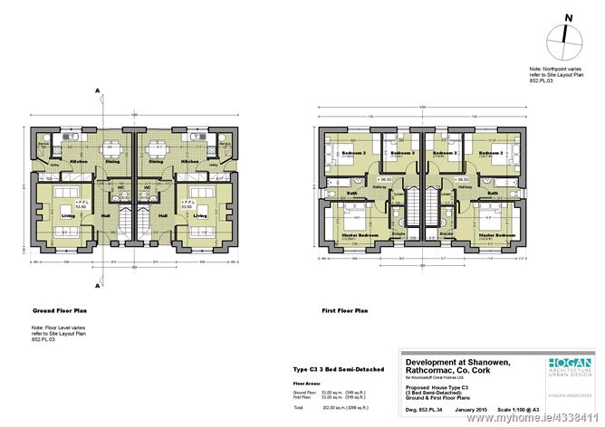 Main image for 3 bed Semi-Detached Type C3, Shanowen, Rathcormac, Cork