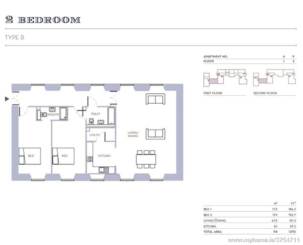 Two Bedroom Apartment, Blackrock House, Blackrock, Cork