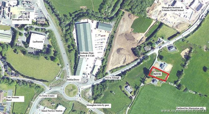 Site With FPP C. 0.22HA (0.54 Acres, Tullyherim, Monaghan, Co. Monaghan