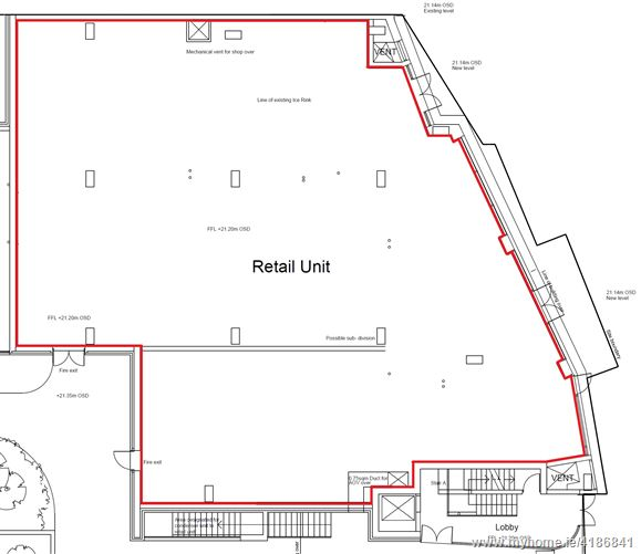 Ground Floor Retail Unit, Ice Rink Development, Dolphins Barn, Dublin 8