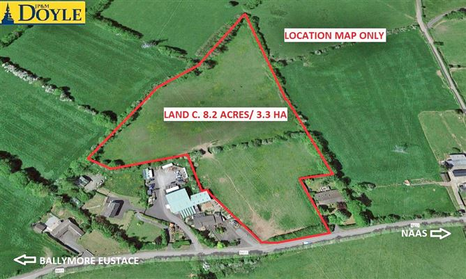 Main image for Land c. 8.2 Acres / 3.3 Hectares, Donode, Ballymore Eustace, Kildare