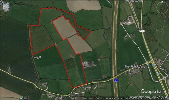 c. 46 acres/18.62 Hectares at Nevitt, Lusk, County Dublin