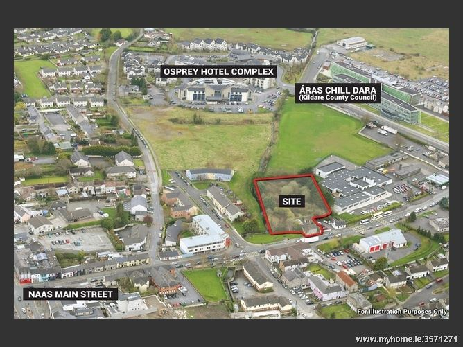 c. 0.85 Ac/  0.34 Ha  Prime Development site, Newbridge Road, Naas, Co. Kildare