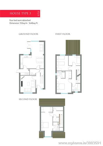 4 Bedroom Semi-Detached Houses, Eden, Blackrock, Cork