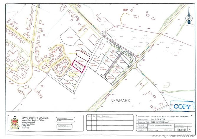 0.2 Hectare (0.5 Acre) Prime Commercial Site,  Swinford,  Co.  Mayo.