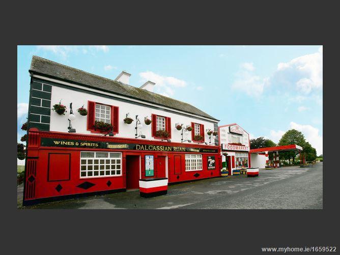 Dalcassian Shop, Petrol Station, Yard, Accommodation, Ruan, Co. Clare
