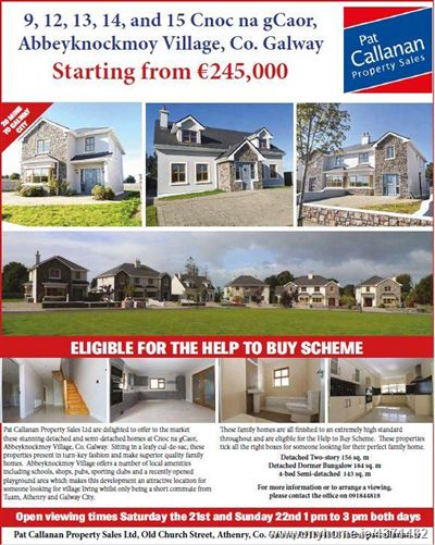 Main image for 9, 12, 13, 14 and 15 Cnoc na Gcaor, Abbeyknockmoy, Galway