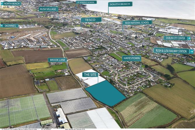 Main image for 3.2 Acres in Rush - Resi Site with FPP, Hayestown, Dublin