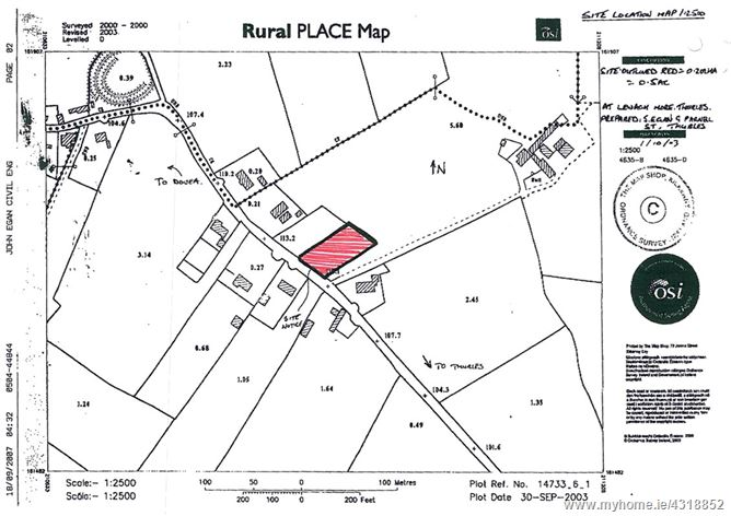 0.5 Acre Site (Subj. To P.P.), Leugh, Thurles, Co. Tipperary