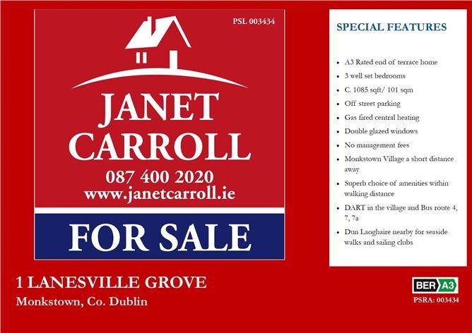 Main image for 1 Lanesville Grove, Monkstown, County Dublin