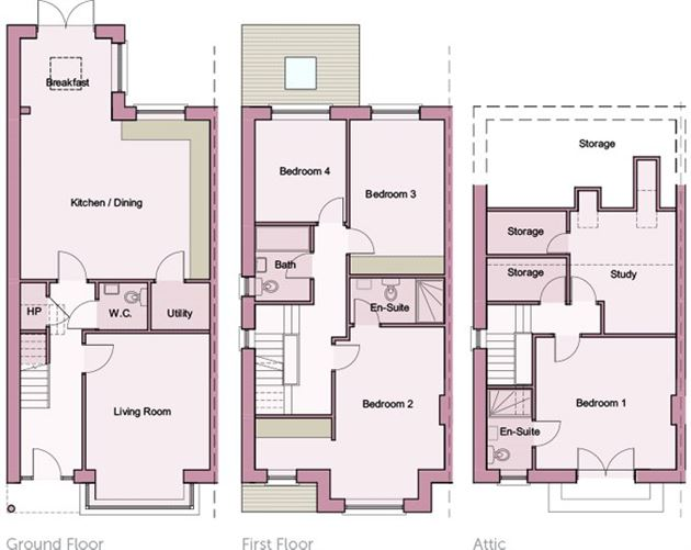 Main image for Laragh - 4 Bed+Study,Lyreen Lodge,Dunboyne Rd.,Maynooth,Co. Kildare