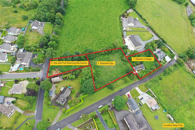Main image for Site with F.P.P. & Derelict Cottage on c. 1.1 Acre, Stratford-on-Slaney, Wicklow