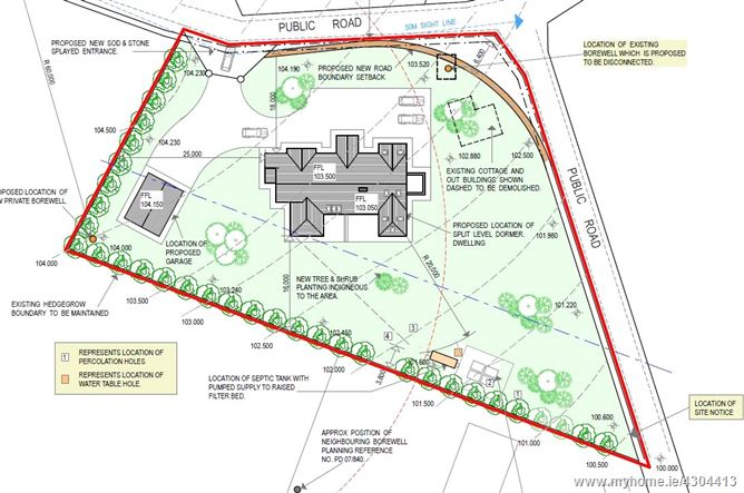 Site With Full Planning Permission, Knockyoolahan West, Clonea Upper, Dungarvan, Co Waterford