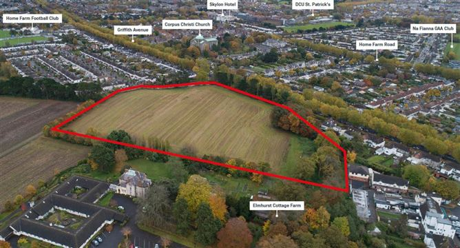 Main image for 9.60 acre site at Griffith Avenue Glasnevin Dublin 9