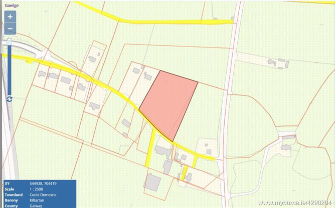 C. 3.16 Acres Land, Coole, Gort, Galway