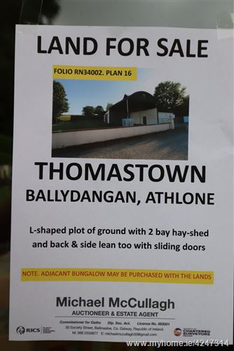 Thomastown Ballydangan Athlone, Athlone West, Roscommon