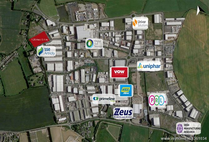Main image for Fully Serviced Industrial Lands, Grants Hill, Greenogue Business Park,, Rathcoole, Dublin