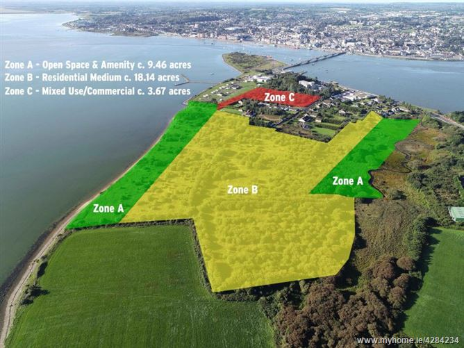 c. 31.28 Acres / 12.66 Hectares at Ferrybank, Wexford Town, Wexford