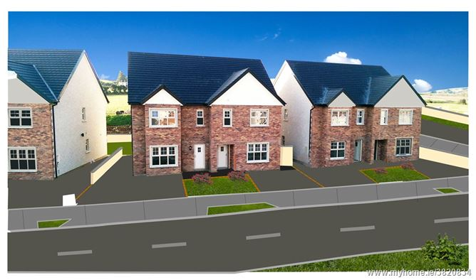 New 3 Bed Semi-Detached Houses, Kirvin Hill, Rathnew, Co Wicklow