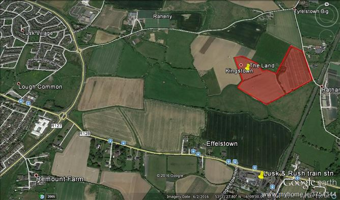 Land c. 6.88Ha/c. 17 Acres with Full PP/House, Kingstown, Effelstown, Lusk, County Dublin