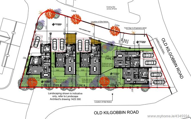 Main image for Site With Full Planning Permission For Five Houses Greenacres, Old Kilgobbin Road, , Sandyford, Dublin 18