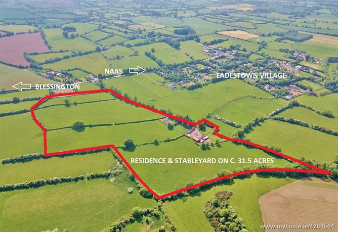 Residence & Stableyard On C. 31.5 Acres/ 12.75 Ha., Eadestown, Naas, Kildare