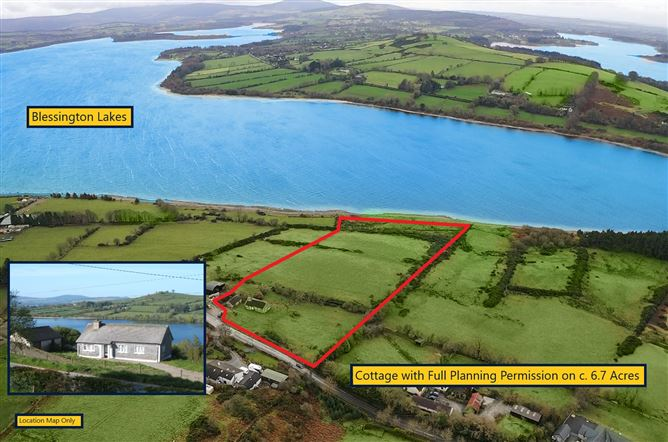 Main image for Bungalow On C. 6.7 Acres / 2.7 Ha., With P.P. for c. 310 sq. mts Res, Carrig, Lacken, Blessington, Wicklow
