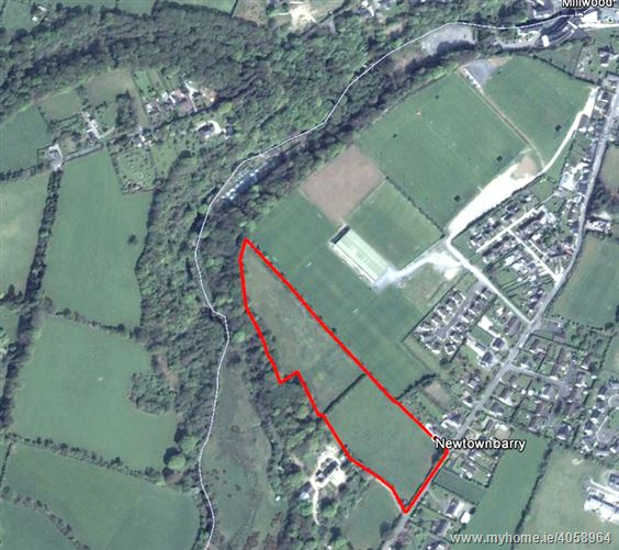 Prime Residential Development Site of C.9.23 Acres with F.P.P. for 49 Houses, at Newtownbarry, Bunclody, Wexford