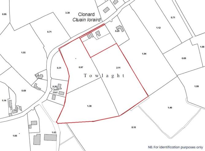 Main image for Lands comprised within Folio MH56897F, Towlaght, Clonard, Co. Meath