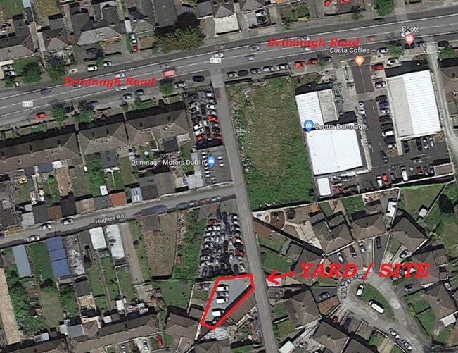 Main image for Site / Yard to Rear of No. 3 Hughes Road North, Walkinstown, Dublin 12