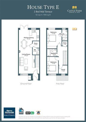 Main image for 2 Bed Mid Terraced,Castle Farm,Dunboyne,Co. Meath