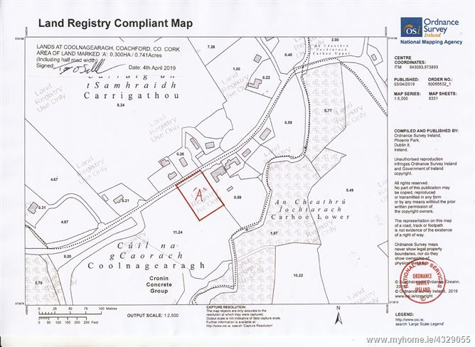 C 0 7 Acre Site At Coolnagearagh Coachford Cork
