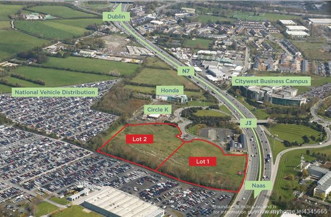 Main image for Landmark High Profile Site of approx. 3.93 ha (9.7 acres), Citywest Business Campus, Citywest, Dublin 24