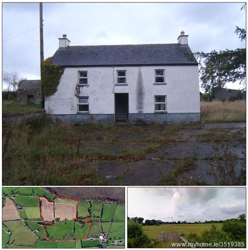 Main image of Disused Farmhouse & 42 Acres, Kilclonfert, Rhode, Offaly