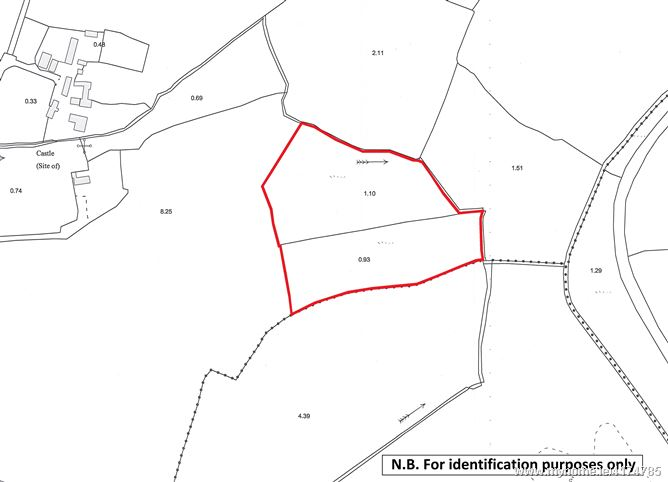 Land comprised within Folio WX51651F, Ballymaclare, New Ross, Co. Wexford