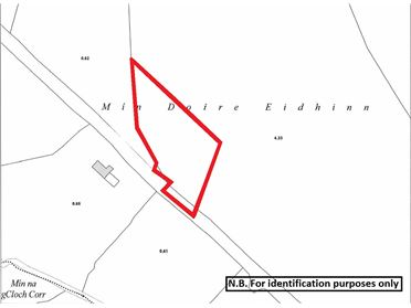 Photo of Lands comprised within Folio DL74952F at Meendrain, Dungloe, Co. Donegal