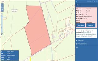 5.34 hectares (13.2 acres) of land at Lisnolan, Castlebar, Mayo