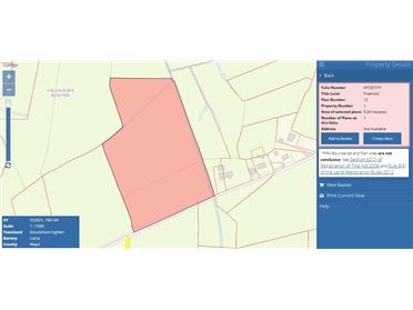 Main image of 5.34 hectares (13.2 acres) of land at Lisnolan, Castlebar, Mayo