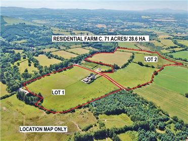 Photo of Residential Farm c. 71 Acres/ 28.6 HA., In One or Two Lots, Downings, Kiltegan, Wicklow