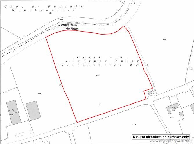 Land contained within Folio MY18173, Friarsquarter West, Ballinrobe, Co. Mayo