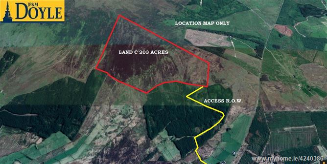 Land c. 203 Acres/ 82.2 HA., Carrigacurra, Valleymount, Wicklow