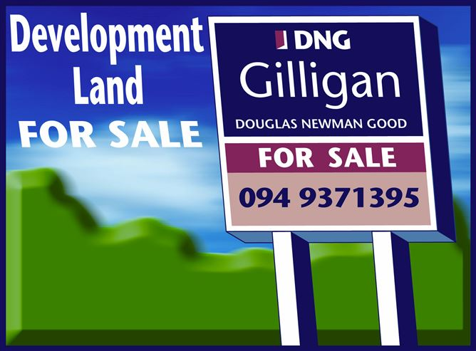 Main image for c 6.15 acres of Prime Development Lands (Zoned Town Centre) at Clare, Claremorris, Mayo