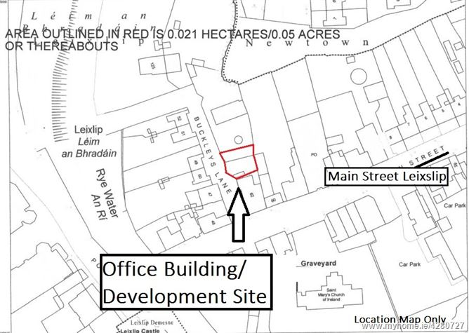 Office Building/ Development Site, Buckley's Lane, Leixlip, Kildare, Leixlip, Co. Kildare