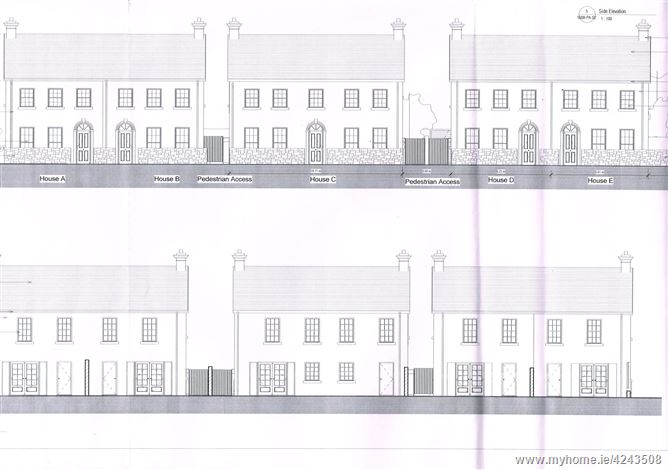 Site with Full Planning Permission for 5 No. Townhouses, Killeigh, Tullamore, Offaly