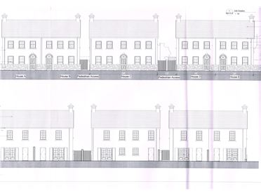 Photo of Site with Full Planning Permission for 5 No. Townhouses, Killeigh, Tullamore, Offaly